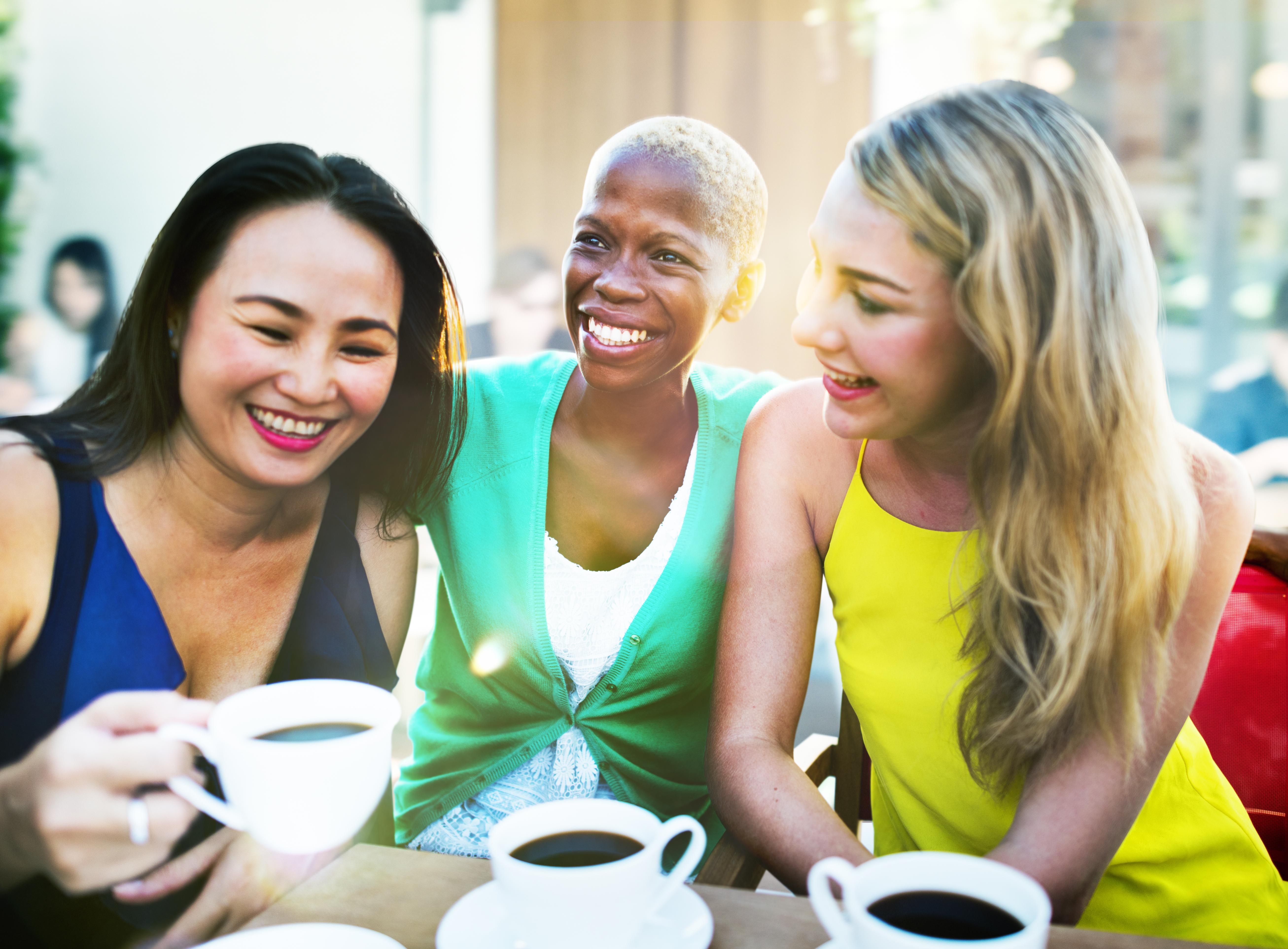 Women Coffee Break Talking